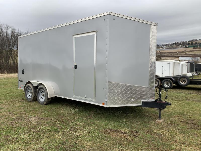 USED 2019 Cargo Express 7x16 XLW Sloped V-Nose Cargo Trailer w/ Ramp Door