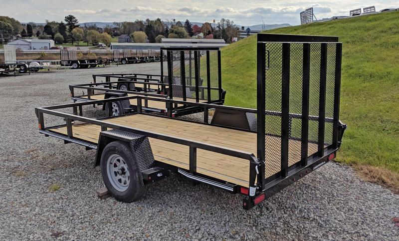 NEW CAM Superline 6x12 Utility Trailer w/ Tube Top & Spring Assist Gate