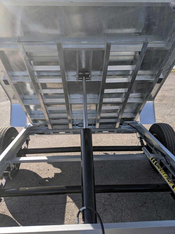 NEW 2020 Bri-Mar 6x12 Lo Pro Equipment Dump Trailer (Galvanized)