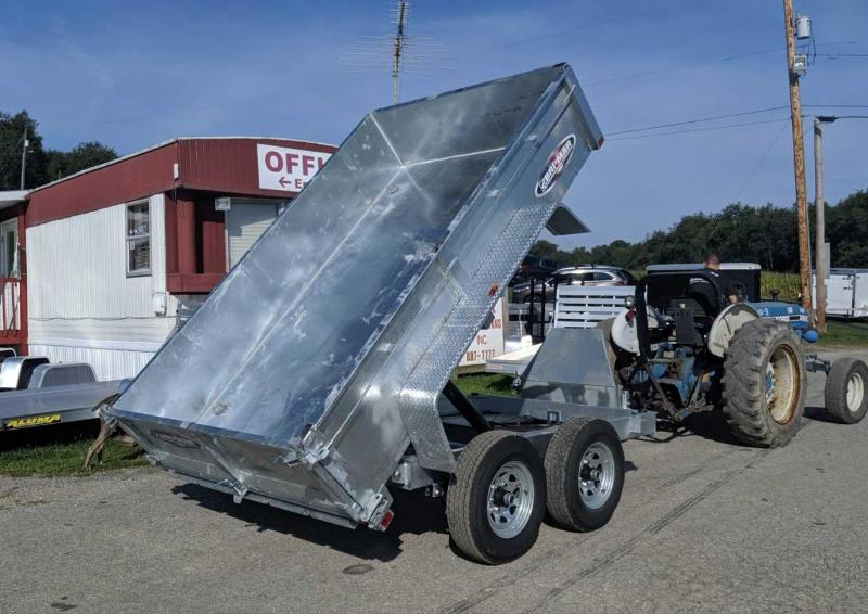 NEW 2020 Bri-Mar 6x12 Lo Pro Equipment Dump Trailer (Galvanized)