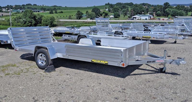 """NEW 2020 Aluma 6'9"""" x 12 Utility w/ side Ramps & Bi-Fold Gate"""