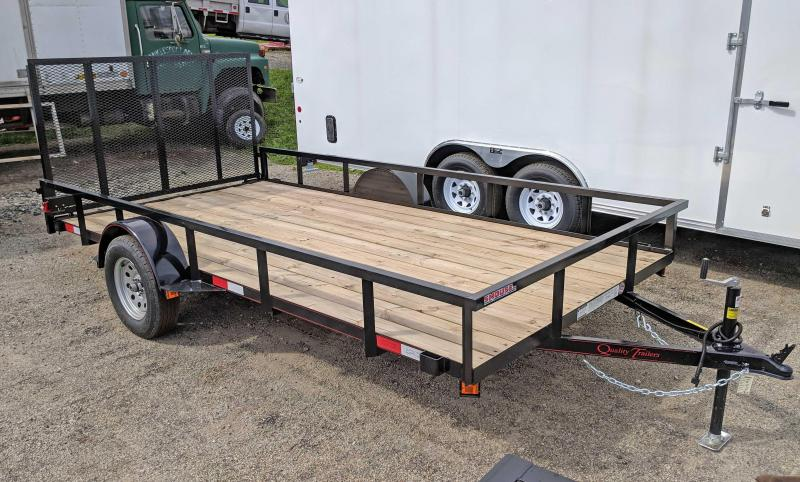 NEW 2020 Quality 7x14 PRO Utility Trailer w/Spring Assist/Lay Flat Gate