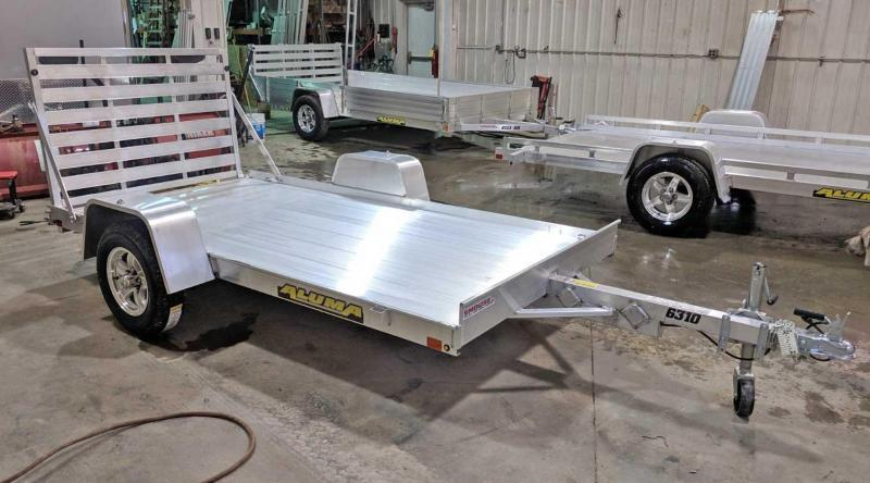 "NEW 2020 Aluma 5'3"" x 10 LW Utility Trailer"