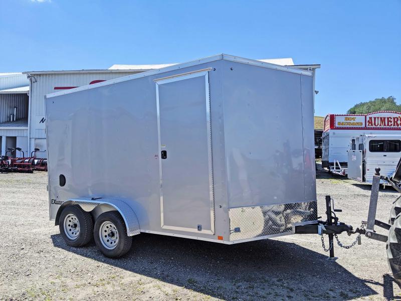 NEW 2020 Cargo Express 7x12 HD EX DLX Sloped V-Nose Cargo Trailer w/ Ramp