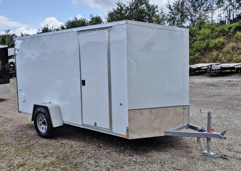 "NEW 2020 Steadfast 6x12 JST Sloped V-Nose Cargo Trailer w/ Barn Doors (6"" Add'l Hgt)"