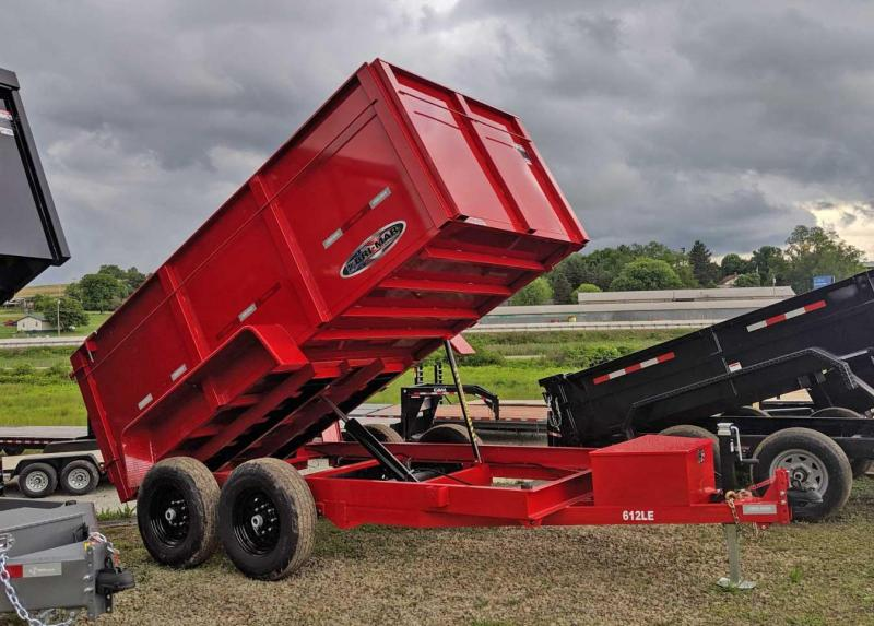 "NEW 2019 Bri-Mar 6x12 Lo Pro Equipment Dump w/ 44"" High Sides"
