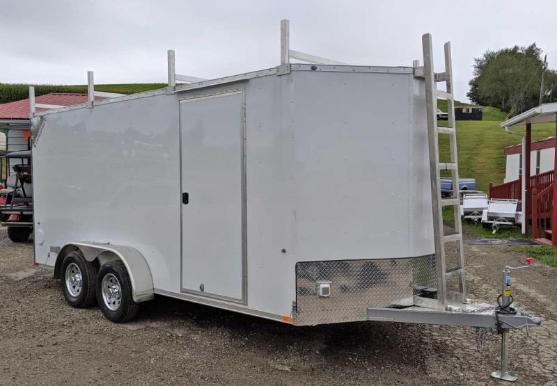 NEW 2020 Steadfast 7x16 Diamond Series V-Nose Contractor Cargo Trailer w/ Rear Barn Doors
