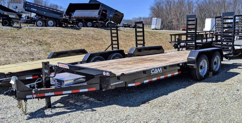 NEW 2020 CAM 20' Channel Frame Equipment Hauler w/ Stand Up Ramps