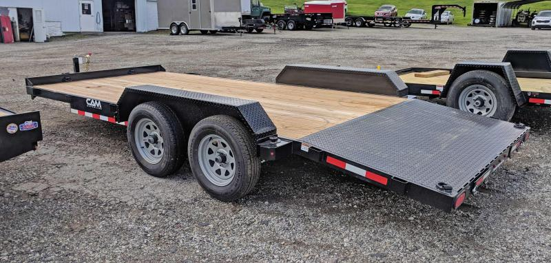 NEW 2019 CAM 18' Car Hauler w/ Underbody Ramps & Removable Fender