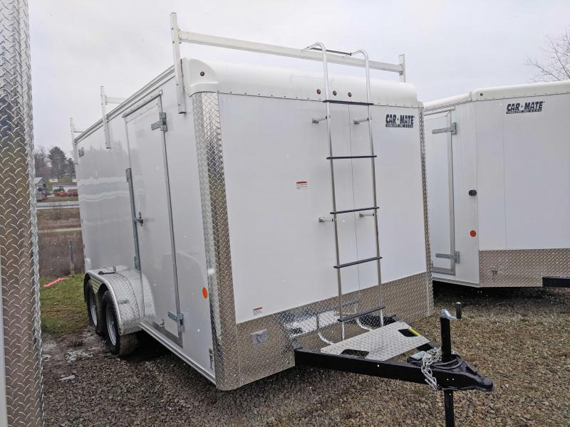 NEW 2020 Car Mate 7x14 HD Contractor Trailer w/ Barn Doors