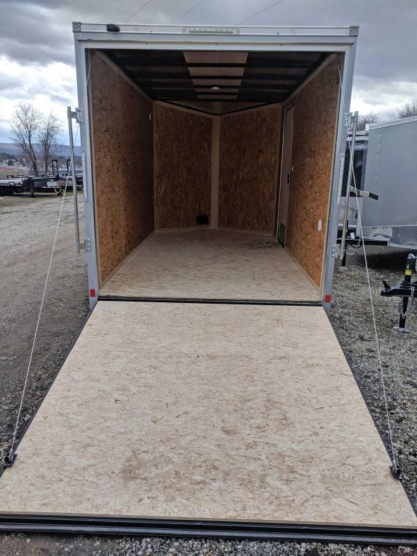 NEW 2020 Cargo Express 7x12 EX DLX Sloped V-Nose Cargo Trailer w/ Ramp