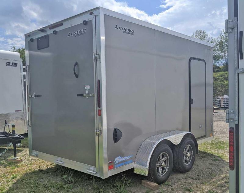 """NEW 2021 Legend 7x12 Thunder V-Nose Cargo Trailer w/ Ramp Door (84"""" Inside)"""