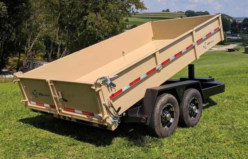 "NEW 2019 B-Wise 6'10"" x 14' HD Lo Pro Equipment Dump"