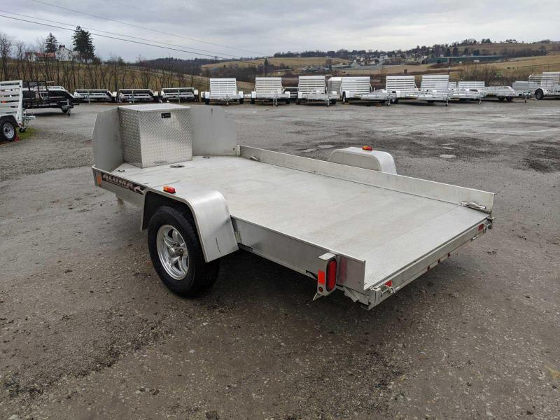 USED 2016 ALUMA 10' UTV Trailer w/ Pull Out Ramp & Storage Box