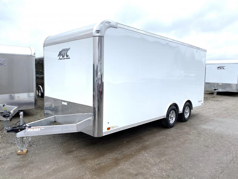 NEW 2020 ATC 8.5 x 18 Raven Aluminum Enclosed Car Hauler w/ Ramp Door