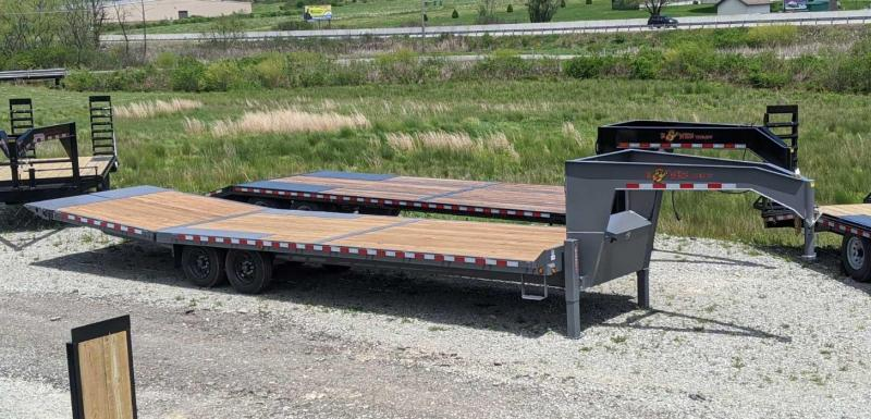 NEW 2020 BWise 30' Deckover Gooseneck w/ 8' Hydraulic Dovetail & 2' Flip Out Extensions