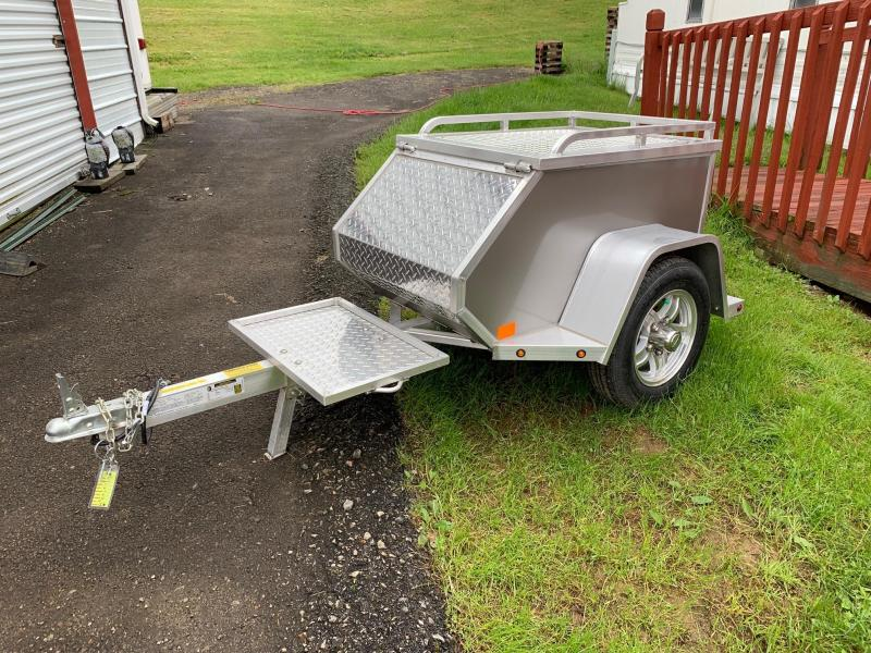 "NEW 2020 Aluma Tow Behind Motorcycle Trailer 45"" x 26.5"" x 21.5"""