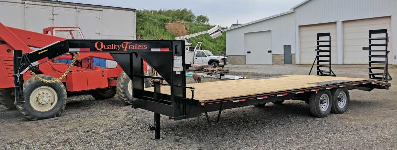 NEW 2020 Quality 20+4 General Duty Deckover Gooseneck Trailer w/ Stand Up Ramps