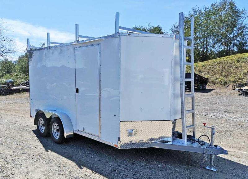 NEW 2020 Steadfast 7x14 Diamond Series V-Nose Contractor Cargo Trailer w/ Rear Barn Doors