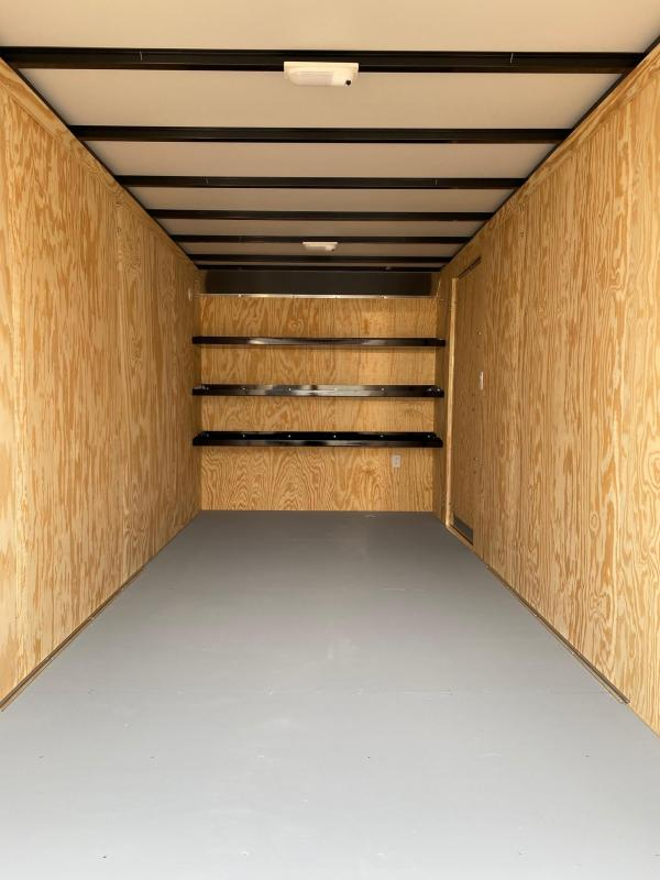 NEW 2020 Car Mate 7x16 HD Contractor Cargo Trailer w/ Rear Barn Doors (Extended Height & Heavier Axles)