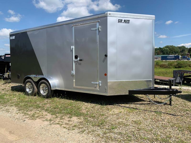 NEW 2020 Carmate 7x16 HD Advantage V-Nose Cargo Trailer w/ Ramp Door
