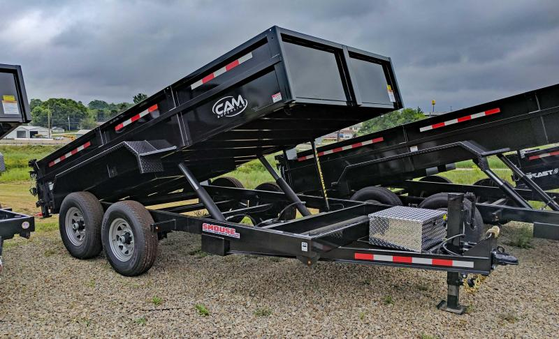 "NEW 2020 CAM 6'8"" x 14 HD "" Beast"" Lo Pro Equipment Dump Trailer"