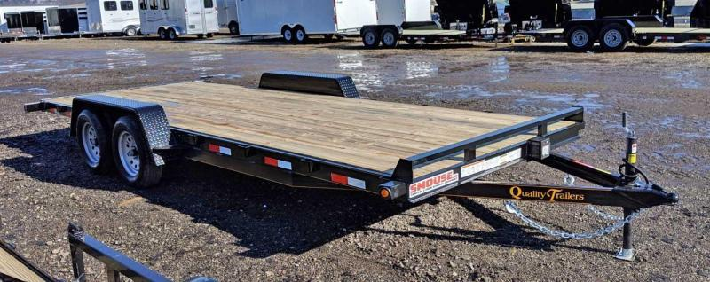 NEW 2020 Quality 18' HD General Duty Car Hauler w/ Underbody Ramps (8500# GVW)