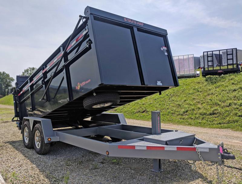 """NEW 2019 B-Wise 6'10"""" x 16 HD Ultimate Dump Trailer w/ Hydraulic Gate"""