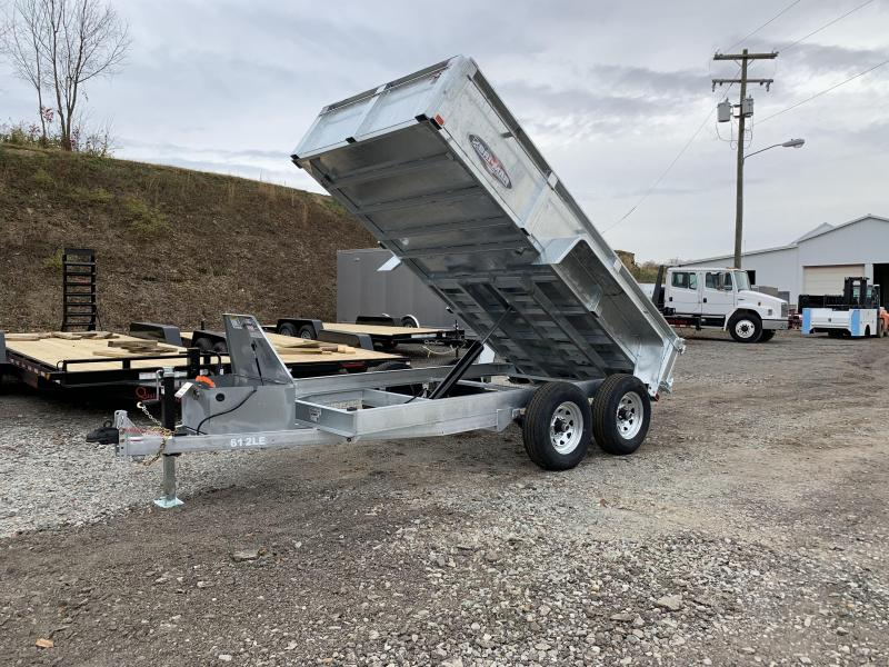 NEW 2020 Bri-Mar 6x12 Lo Pro Dump Trailer w/ Combo Gate (Galvanized)