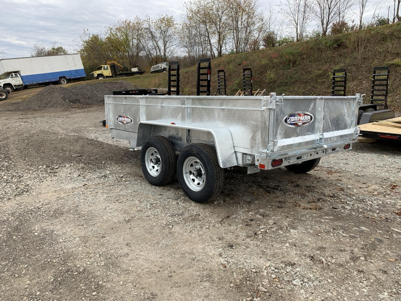 NEW 2020 Bri-Mar 6x12 Lo Pro Dump Trailer w/ Combo Gate (Galvanized)
