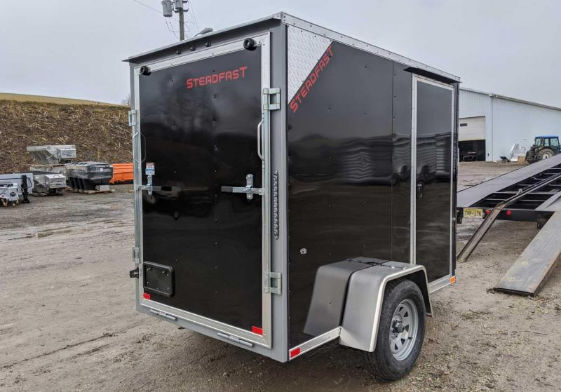 NEW 2020 Steadfast 5x8 Sloped V-Nose Cargo Trailer w/ Ramp