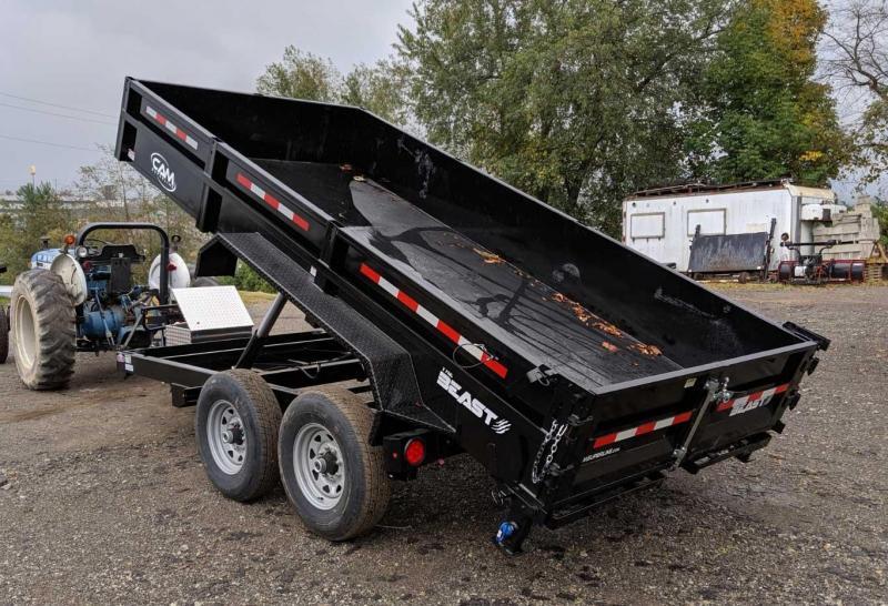 "NEW 2020 CAM 6'8"" x 14' HD ""BEAST"" Lo Pro Equipment Dump w/ Underbody Ramps"