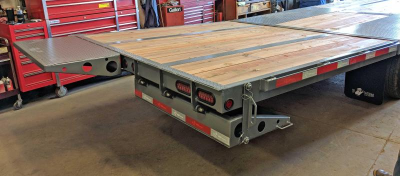 NEW 2019 BWise 30' HD Deckover Gooseneck w/ 10' Hydraulic Dovetail