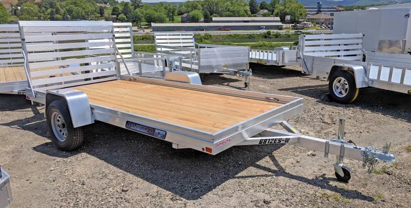 """NEW 2021 Aluma 5'8"""" x 12'  ES Aluminum Utility w/ Wood Deck"""