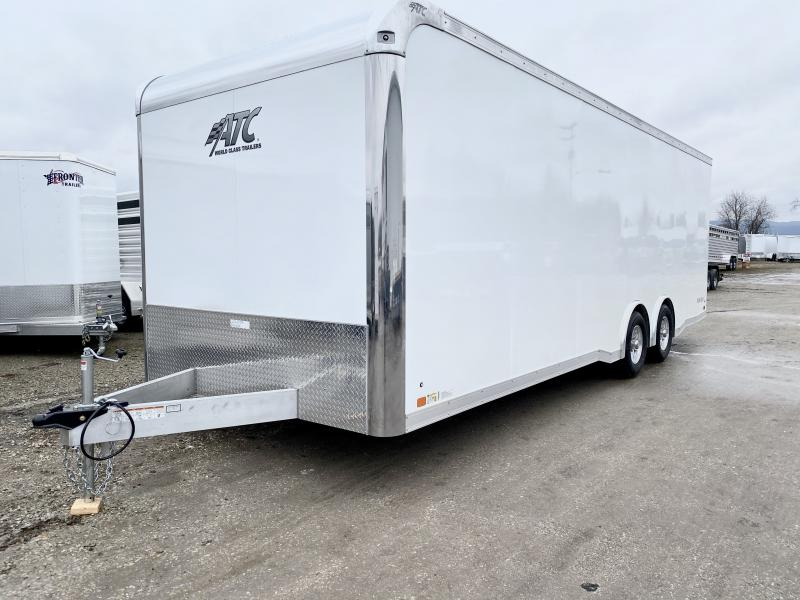 NEW 2020 ATC 8.5 x 24 Raven Aluminum Enclosed Car Hauler w/ Ramp