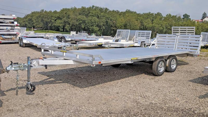 NEW 2020 Aluma 16+4 HD Deckover Trailer w/ Twin Bi-Fold Gates