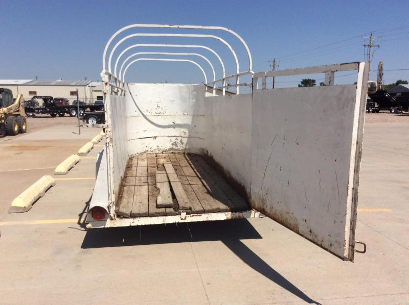 1985 Used Stock Trailer Selling for Customer
