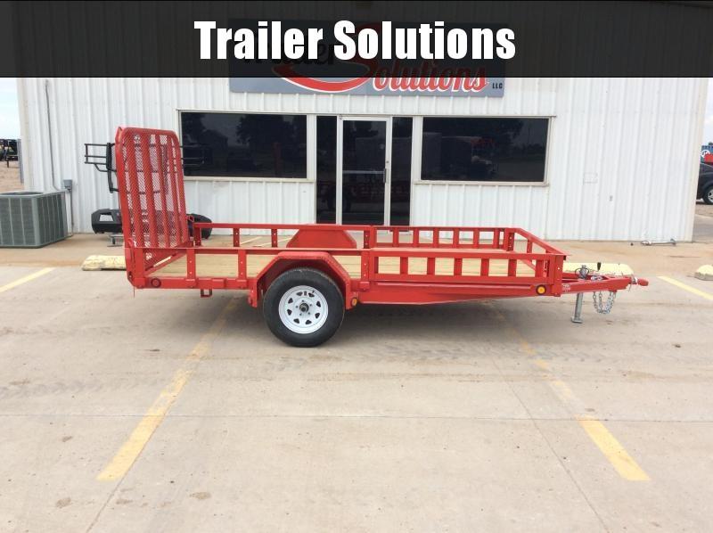 """2020 PJ 12' x 72"""" Single Axle Channel Utility Trailer"""