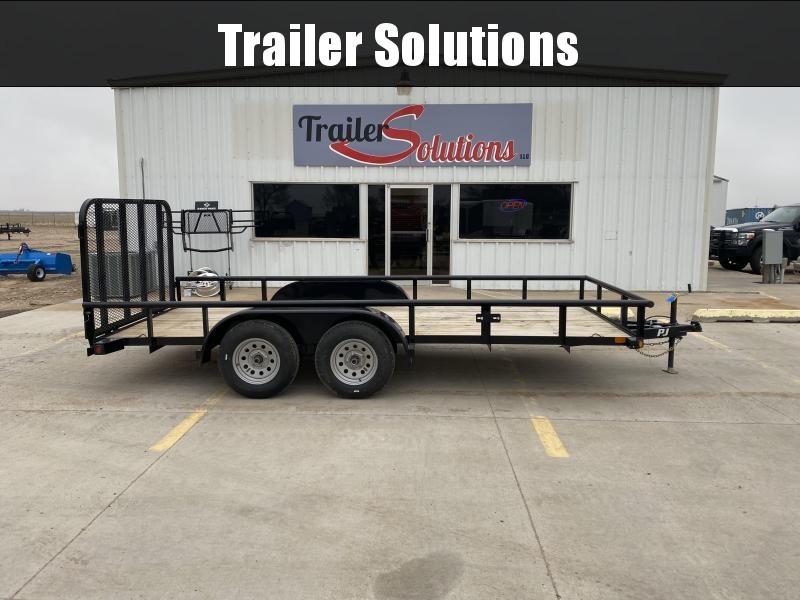 "2020 PJ 16' x 77"" Angle Tandem Axle Utility Trailer"