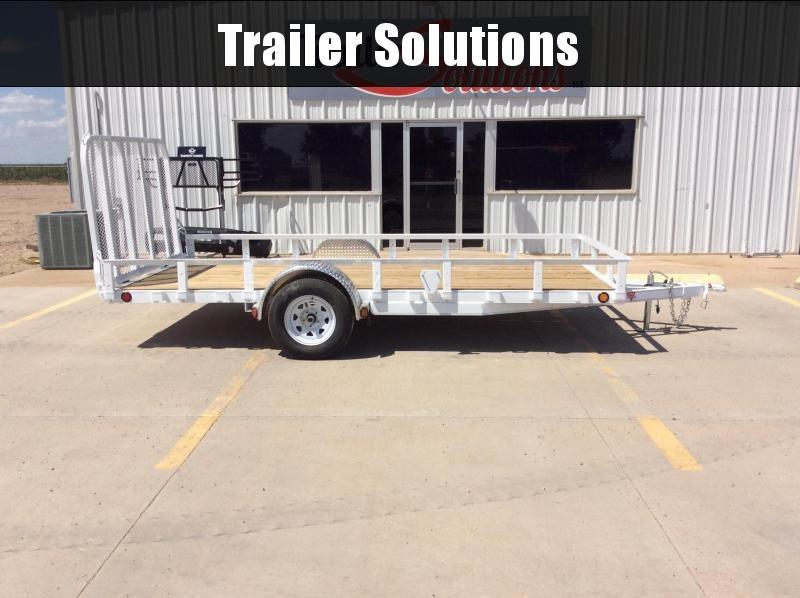 """2020 PJ 14' x 77"""" Single Axle Channel Utility Trailer"""
