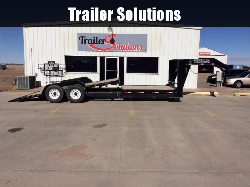 2014 Titan Trailers Flatbed Equipment Trailer