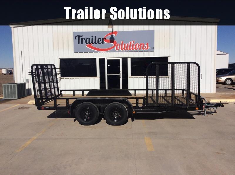 "2020 PJ 16' x 83"" Tandem Axle Channel Utility Trailer"