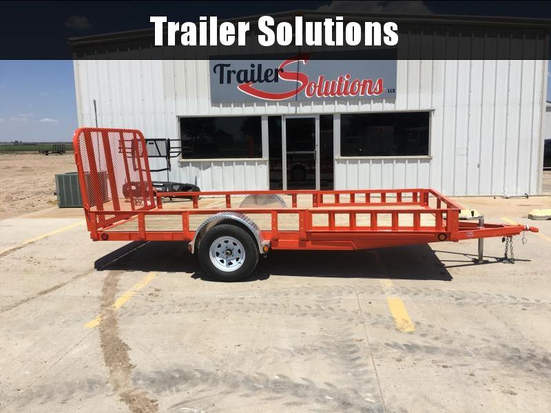 """2019 PJ 14' x 77"""" Single Axle Channel Utility Trailer"""