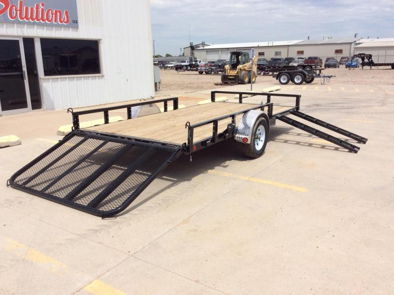 2020 PJ 14' x 83' Single Axle Channel Utility Trailer