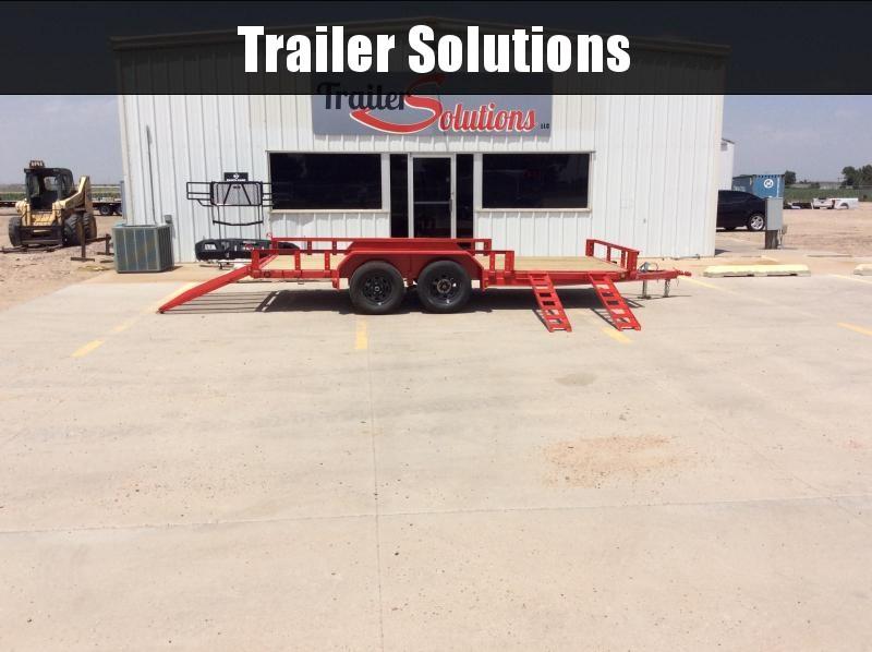 "2020 PJ 16' x 77"" Tandem Axle Channel Utility Trailer"