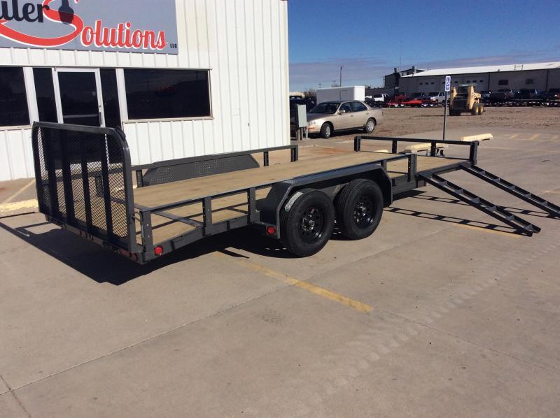 "2020 PJ 18' x 83"" Tandem Axle Channel Utility Trailer"
