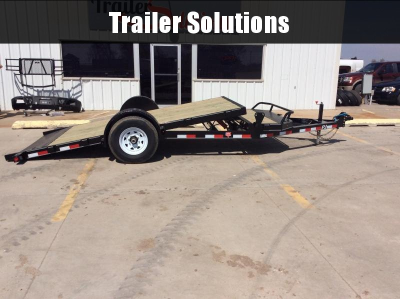 "2020 PJ 16' x 83"" SIngle Axle HD Tilt Trailer"