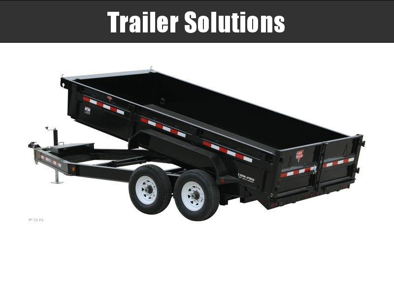 """2021 16' x 83"""" Low Pro Dump Trailer"""
