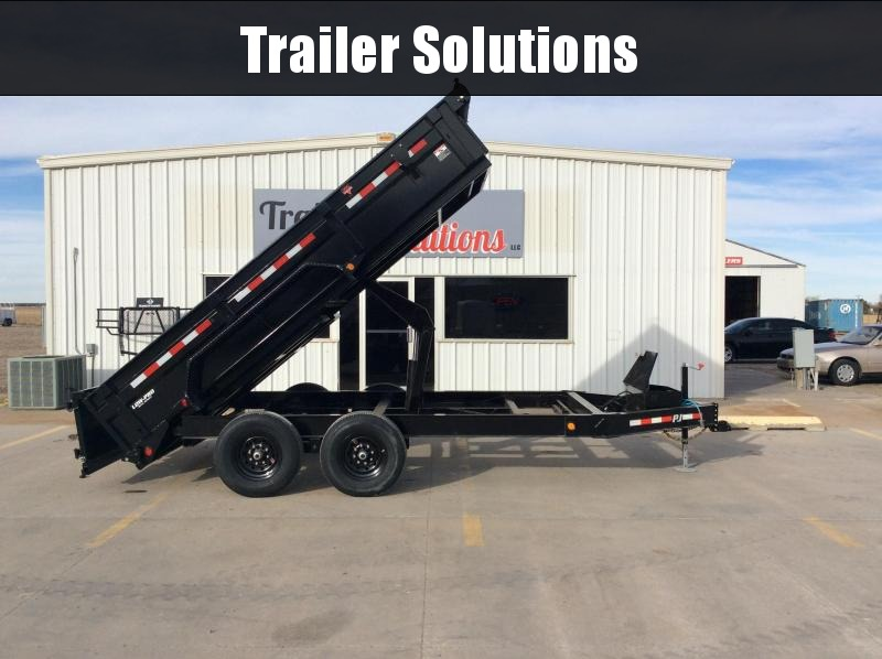 "2020 PJ 14' X 83"" Low Pro Dump Trailer(DL)"