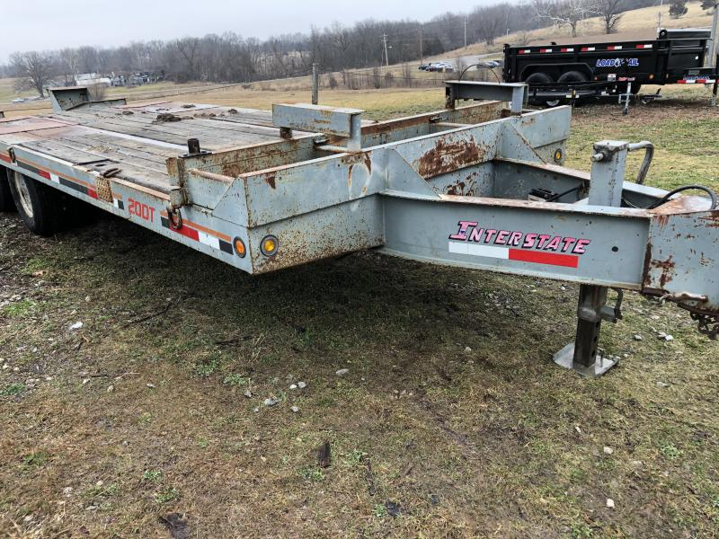1992 Interstate 20DT 25 ft  Equipment Trailer
